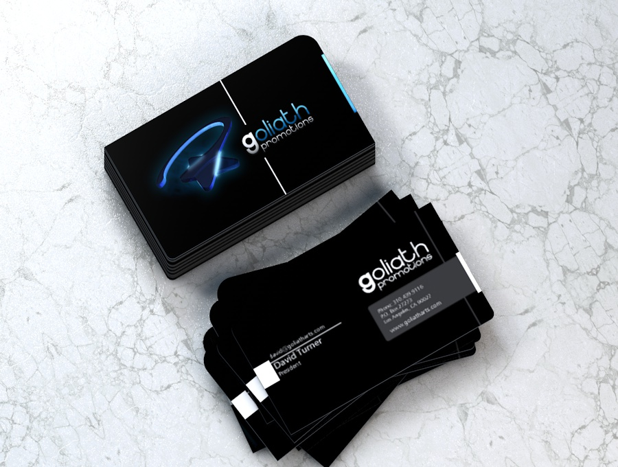 Goliath Promotions Business Card Design