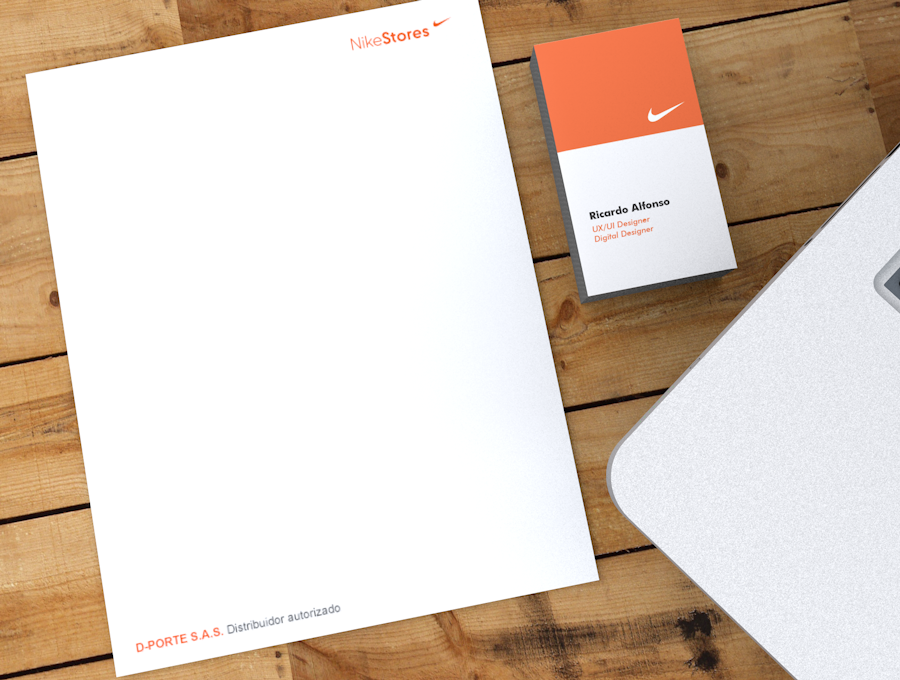 Nike Stores Corporate Stationery Design