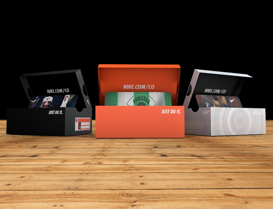 Nike Mini Shoe Box For Gift Card